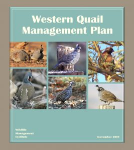 Western Quail Management Plan, November 2019