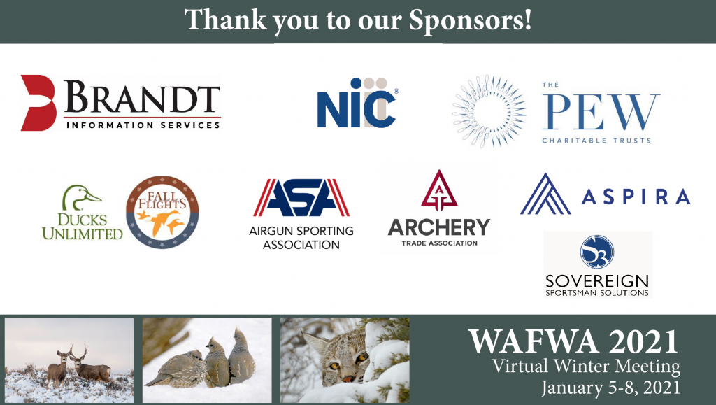 Thank you to our Meeting Sponsors!